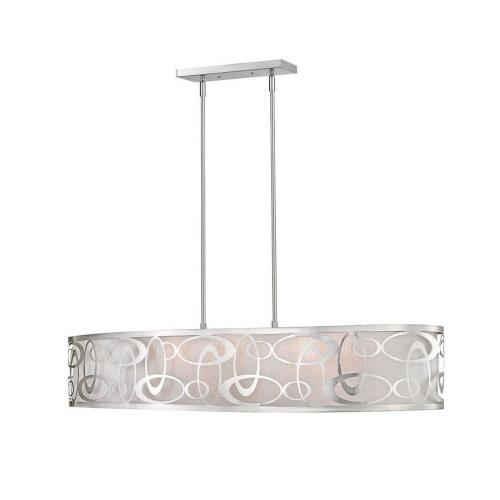 Z-Lite 195-4 Opal - 6 Light Pendant in Nature Style - 18 Inches Wide by 9.13 Inches High