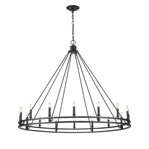 Z-Lite 4005-16 Dennison - 16 Light Chandelier in Crystal Style - 60.25 Inches Wide by 49.25 Inches High