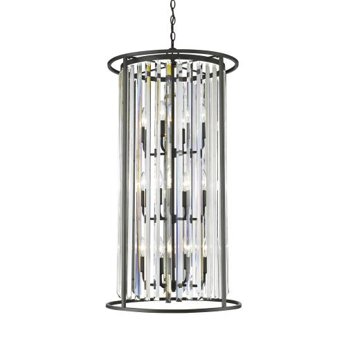 Z-Lite 439-12B Monarch - 12 Light Chandelier in Fusion Style - 20 Inches Wide by 39 Inches High