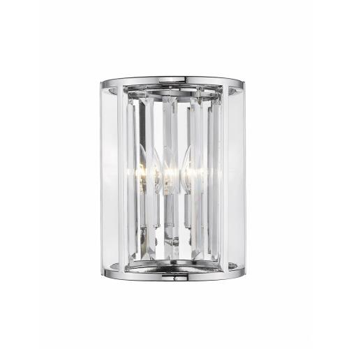 Z-Lite 439-2S-CH Monarch - 2 Light Wall Sconce in Fusion Style - 8.5 Inches Wide by 11.5 Inches High