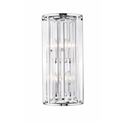 Z-Lite 439-4S-CH Monarch - 4 Light Wall Sconce in Fusion Style - 10 Inches Wide by 21.5 Inches High