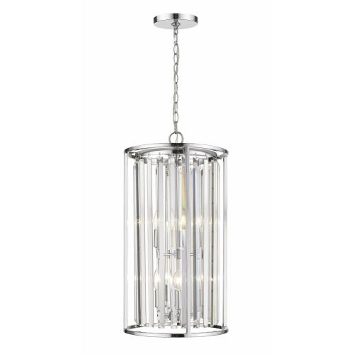 Z-Lite 439 Monarch - 6 Light Chandelier in Fusion Style - 39.5 Inches Wide by 11.5 Inches High