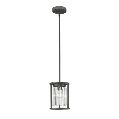 Z-Lite 439MP Monarch - 1 Light Mini Pendant in Fusion Style - 7 Inches Wide by 8.63 Inches High