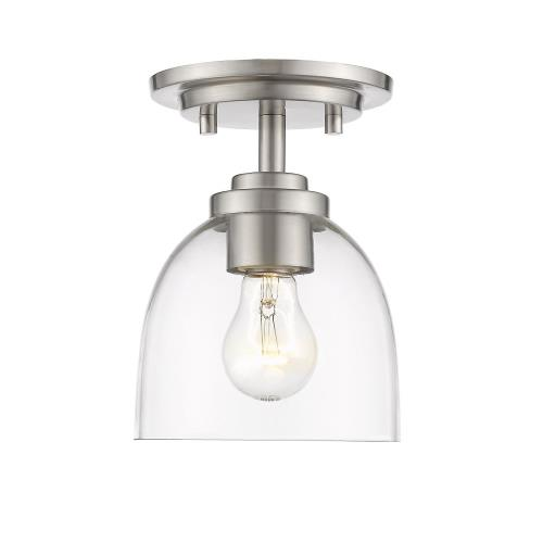 Z-Lite 460F1-BN23 Ashton - 1 Light Flush Mount in Fusion Style - 6 Inches Wide by 7.25 Inches High