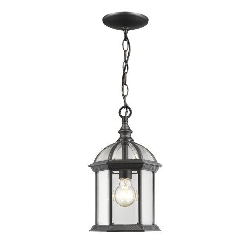 Z-Lite 563CHM Annex - 1 Light Outdoor Chain Mount Lantern in Gothic Style - 8 Inches Wide by 13.75 Inches High