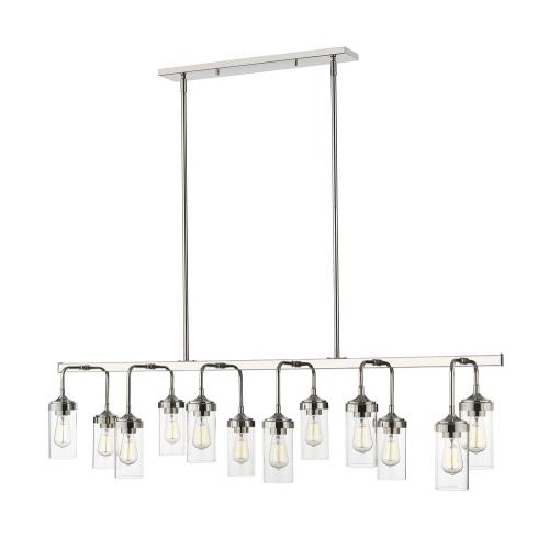 Z-Lite 617-12L Calliope - 12 Light Pendant in Industrial Style - 60 Inches Wide by 15.25 Inches High