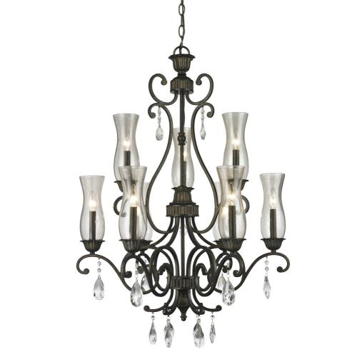 Z-Lite 720-9 Melina - 9 Light Chandelier in Victorian Style - 28.6 Inches Wide by 37.1 Inches High