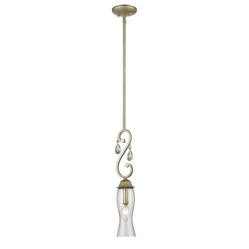 Z-Lite 720MP Melina - 1 Light Mini Pendant in Schoolhouse Style - 3.5 Inches Wide by 20 Inches High