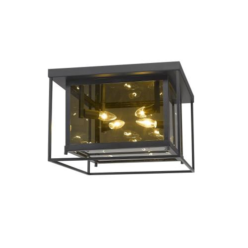 Z-Lite 802F16 Infinity - 4 Light Flush Mount in Classical Style - 16 Inches Wide by 11 Inches High
