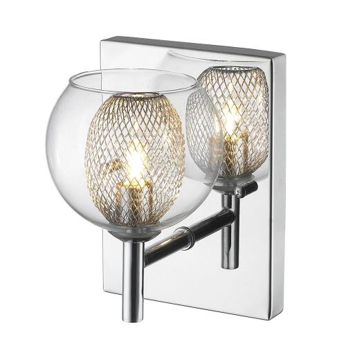 Z-Lite 905-1SC Auge - 1 Light Wall Sconce in Retro Style - 5.51 Inches Wide by 6.69 Inches High