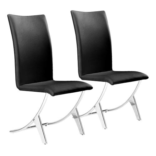 Zuo Modern 102DF Delfin - 39 Inch Dining Chair (Set Of 2)