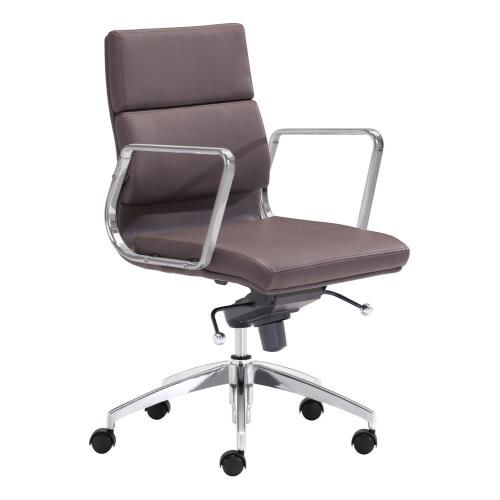 Zuo Modern 205EG Engineer - 36.4 Inch Low Back Office Chair