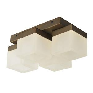 "Cubic - 14.2"" 22.4W 4 LED Square Edge Lite Semi-Flush Mount"