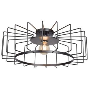 "Wired - 23.25"" 7W 1 LED Horizontal Cage Flush Mount"