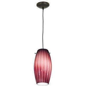 Tali - One Light Pendant with Fleur Flower Glass
