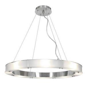 "Oracle - 28"" 50.4W 8 LED Large Cable Ring Glass Chandelier"