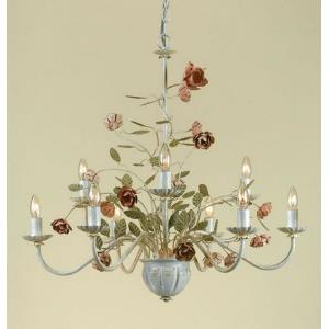 Ramblin Rose - Nine Light Chandelier
