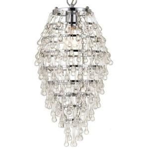 Crystal Teardrop - One Light Mini-Chandelier