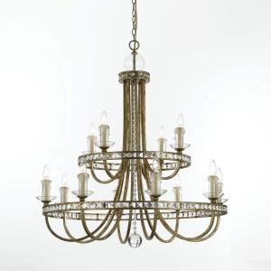 Aristocrat - Twelve Light 2-Tier Chandelier