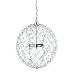 Silver Web - Three Light Round Large Pendant