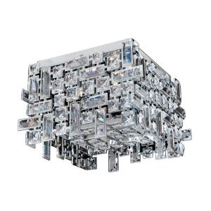Vermeer - Four Light Square Flush Mount