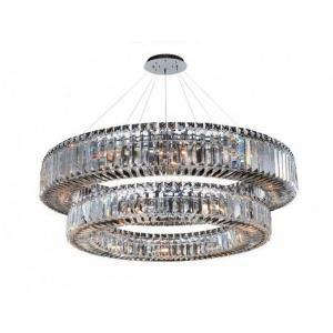 Quantum Rondelle - Twenty-One Light 2-Tier Round Pendant