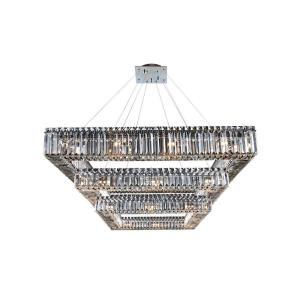 Quantum Quadro - Thirty-Six Light 3-Tier Square Pendant