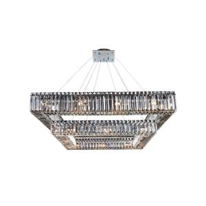 Quantum Quadro - Twenty-Eight Light 2-Tier Square Pendant