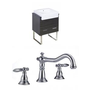 """Xena Farmhouse - 25.25"""" Floor Mount Vanity Set For 3H8-in. Drilling with Top"""