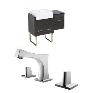 Xena Farmhouse - 36.75 Inch Floor Mount Vanity Set For 3H8-in. Drilling with Top