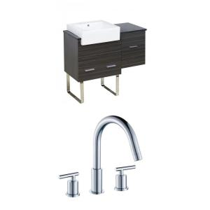 """Xena Farmhouse - 36.75"""" Floor Mount Vanity Set For 3H8-in. Drilling with Top"""