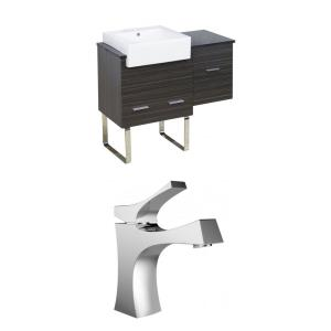 Xena Farmhouse - 38.75 Inch Floor Mount Vanity Set For 1 Hole Drilling with Top