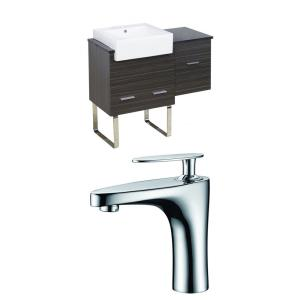 Xena Farmhouse - 36.75 Inch Floor Mount Vanity Set For 1 Hole Drilling with Top