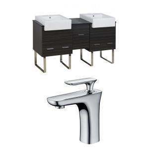 Xena Farmhouse - 59.5 Inch Floor Mount Vanity Set For 1 Hole Drilling with Top