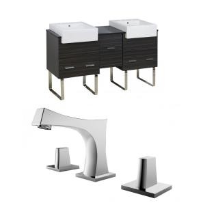 Xena Farmhouse - 59.5 Inch Floor Mount Vanity Set For 3H8-in. Drilling with Top