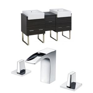 "Xena Farmhouse - 59.5"" Floor Mount Vanity Set For 3H8-in. Drilling with Top"