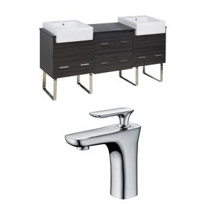 Xena Farmhouse - 73.5 Inch Floor Mount Vanity Set For 1 Hole Drilling with Top
