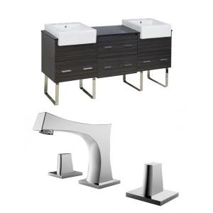 Xena Farmhouse - 73.5 Inch Floor Mount Vanity Set For 3H8-in. Drilling with Top