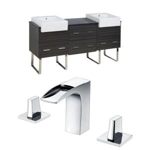 "Xena Farmhouse - 73.5"" Floor Mount Vanity Set For 3H8-in. Drilling with Top"