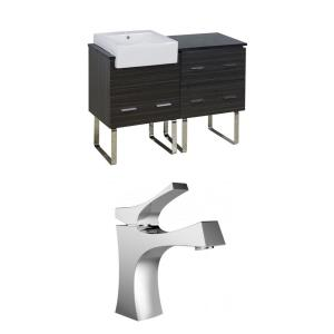 Xena Farmhouse - 48.75 Inch Floor Mount Vanity Set For 1 Hole Drilling with Top
