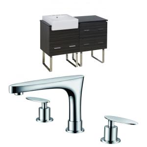 Xena Farmhouse - 48.75 Inch Floor Mount Vanity Set For 3H8-in. Drilling with Top