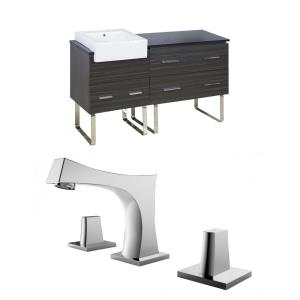 Xena Farmhouse - 60.75 Inch Floor Mount Vanity Set For 3H8-in. Drilling with Top