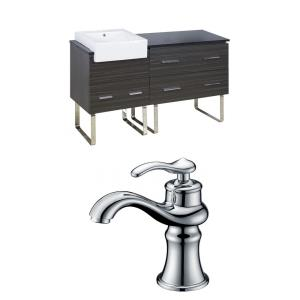Xena Farmhouse - 60.75 Inch Floor Mount Vanity Set For 1 Hole Drilling with Top