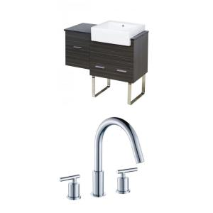 "Xena Farmhouse - 36.75"" Floor Mount Vanity Set For 3H8-in. Drilling with Top"