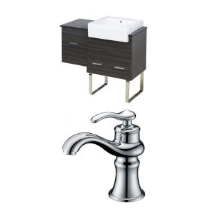 "Xena Farmhouse - 36.75"" Floor Mount Vanity Set For 1 Hole Drilling with Top"