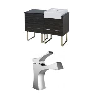 "Xena Farmhouse - 48.75"" Floor Mount Vanity Set For 1 Hole Drilling with Top"