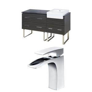 """Xena Farmhouse - 60.75"""" Floor Mount Vanity Set For 1 Hole Drilling with Top"""