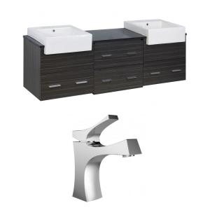 """Xena Farmhouse - 73.5"""" Wall Mount Vanity Set For 1 Hole Drilling with Top"""