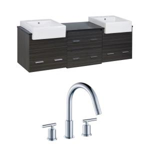 "Xena Farmhouse - 73.5"" Wall Mount Vanity Set For 3H8-in. Drilling with Top"