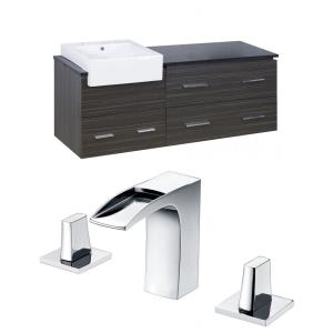 """Xena Farmhouse - 60.75"""" Wall Mount Vanity Set For 3H8-in. Drilling with Top"""